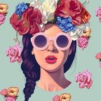 девушка в короне из цветов