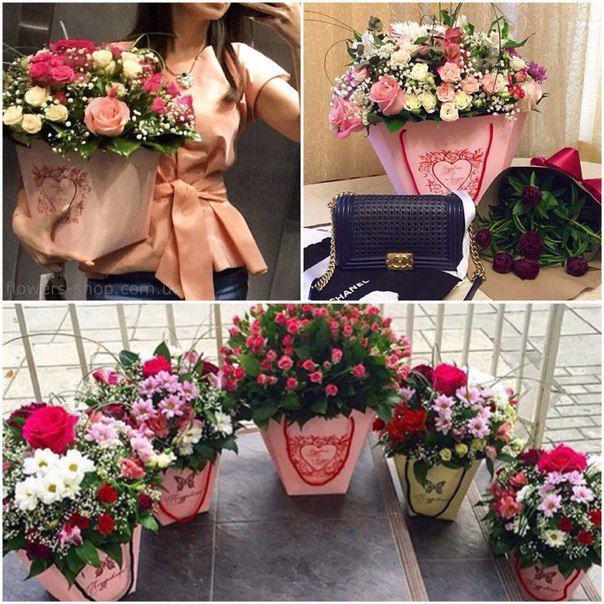 Цветы в пакете своими руками 98