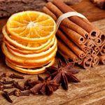 сухие апельсины и декор