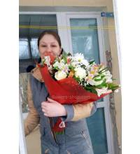 Beautiful bouquet with delivery
