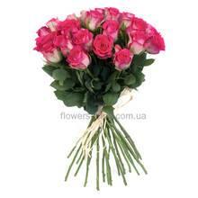 Букет импортных роз розового цвета. В любом количестве