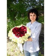 Сердце из роз под заказ в Харьков
