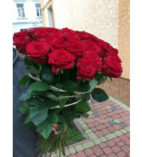 Букет из 55 красных роз Гран-При