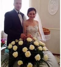 Basket of roses delivered in Smela