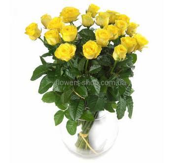 Букет ярко-желтых роз