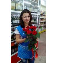 A bouquet of roses delivered to Dnipro