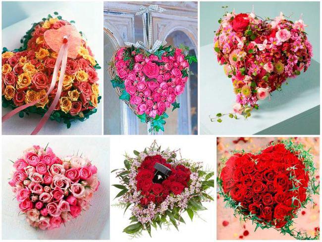 цветы на день Валентина
