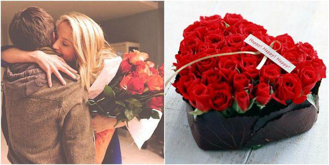цветы на день Влюбленных