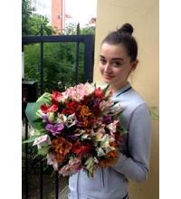 Alstroemeria in a bouquet delivered in Kirovograd