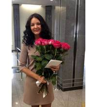 Bouquet of imported roses delivered to Uzhhorod