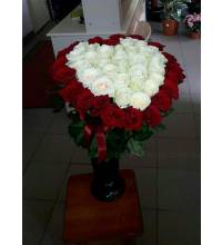 Heart of roses delivered to Nikolaev