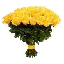 Букет из импортных роз желтого цвета