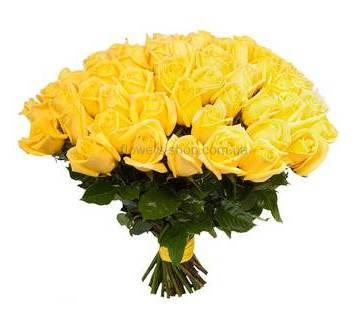 Импортные желтые розы поштучно