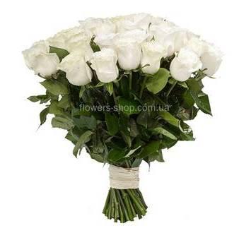 Импортные белые розы поштучно
