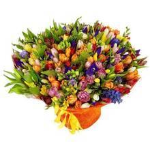 Огромный букет из весенних цветов