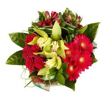Букет красные орхидеями фото, как вырастить розу из букета видео