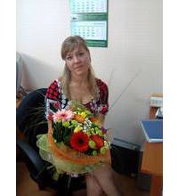 Bright mix of flowers delivered by courier to Chernovtsy