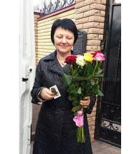 Ароматные розы для именинницы из Чернигова