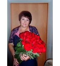 Bouquet of red roses delivered in Anthracite
