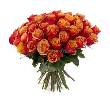 Эквадорские розы сорта Черри Бренди