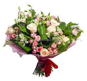 Roses and alstroemerias