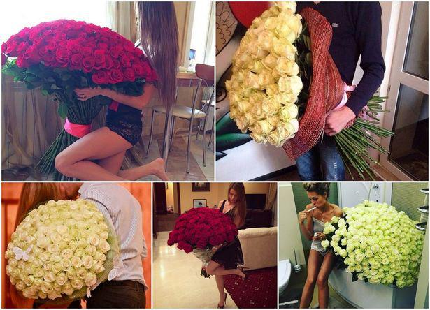 букет роз на День Cвятого Валентина