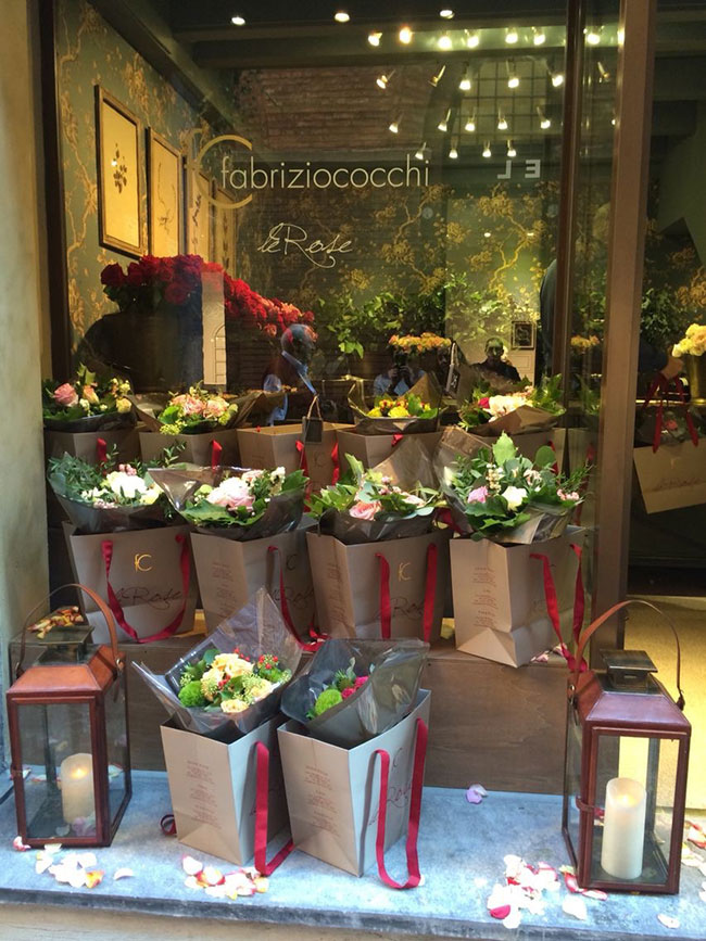 магазин цветов в Европе