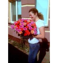 Bouquet of 51 roses with delivery to Kazatin