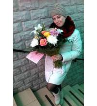Mixed bouquet sent to Kiev