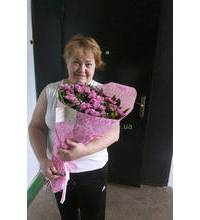 Букет розовых хризантем доставлен в Александрию