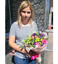 Bright bouquet with express delivery in g.Stry