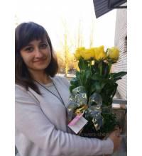 Delivery of flower arrangement