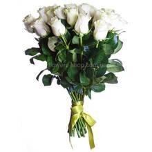 Букет белых импортных роз, поштучно
