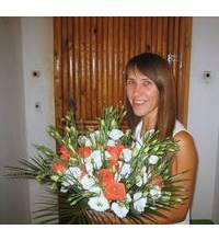 Збірний букет з троянд і еустом в Запоріжжі