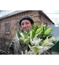 Фото доставки белых лилий для мамы