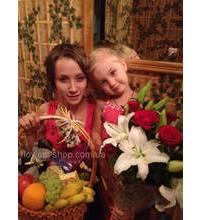 Фото доставки подарка для девушки и ее доченьки