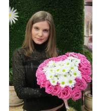 Цветочное сердце з доставкой в Черновцах