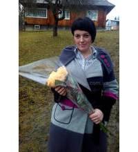 Поздравление с Днем Влюбленных букетом роз