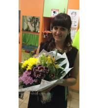 Букет хризантем доставлений в Вільнянськ