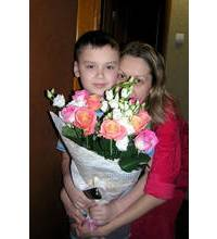 Bouquet for a family of Mariupol