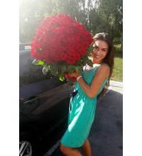 Букет из 101 красной розы в Новомосковске