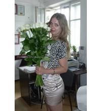 Букет білих троянд для дівчини з Нової Каховки