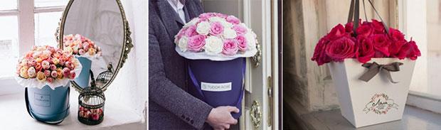 цветы в коробке8