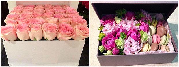 цветы в коробке5