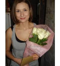 Букет белых роз доставлен в г.Донецк