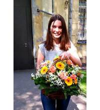 Flower basket in Kalush