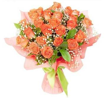 Букет из роз с гипсофилой