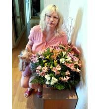 Доставка цветочной корзины в Николаев
