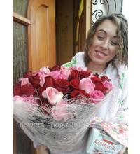 Букет из 75 роз с доставкой на дом