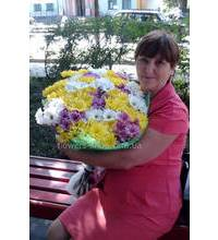 Delivery bouquet of chrysanthemums in Svitlovodsk